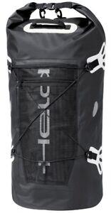 Held wasserdichte Motorrad Gepäckrolle Roll-Bag Hecktasche schwarz/weiß 90Liter