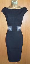 Karen Millen Black Tailored Pencil Office Work Dress Size 12