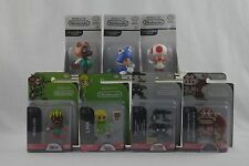 World Of Nintendo Lot Of 7 Figures Jakks 2 Inch Mario Toad Tom Kong Link Deku