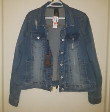 Love & Legend Plus Size Distressed Jeans denim  Jacket  Blue Size 18 Fashion