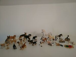 Schleich Animal Bundle Dogs Cats Horses Pony Rabbits Chipmunk meerkats X 26 pcs