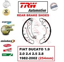 FOR FIAT DUCATO 1.9 2.0 2.4 2.5 2.8 1982-2002 REAR AXLE BRAKE SHOES SET (254mm)