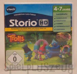 Vtech Storio HD Storio 3S 2 Max TV Lernspiel Trolls NEU