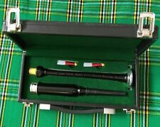 More details for scottish practice chanter rosewood black silver mount with carrying case bagpipe