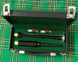 Scottish Practice Chanter Rosewood Black Silver mount with Carrying Case bagpipe