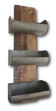 Design Retro Vintage Wandregal Regal Mango Holz massiv 3 Fächer Zinn Metall NEU