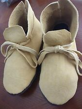 NEW BRAINTANNED DEER MOCCASINS MUKLUKS SHOES BOOTS 5-12
