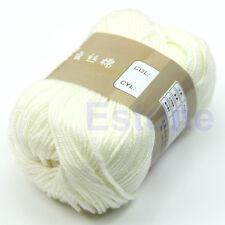 50g 1 Skein Natural Cotton Silk Baby Sweater Soft Yarn Knitting