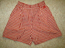 CENTO X CENTO ICEBERG ITALY Red Madras Plaid Pleated Classic Shorts Woman 40 S
