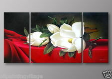 Framed Lily Oil Painting on Canvas ready to be hung Last 1