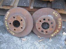 84 85 86 87 PONTIAC FIERO 2.8L 6CYL LEFT & RIGHT USED REAR BRAKE ROTORS
