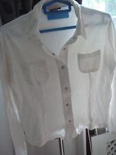 Women's Vintage Retro Stefanel Basics White Cotton Top Shirt M Medium Dombs