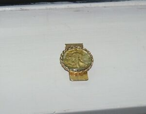 Walking Liberty Half Dollar Gold Enhanced Money Clip 1944