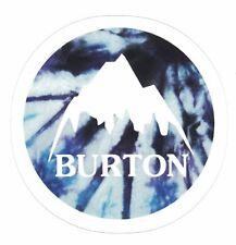 BURTON STICKER ~ Mountian Blue Purple Tie Dye Logo Snowboard Ski Decal  * NEW *