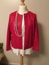 Pinko Red Women's 100% Leather Jacket size UK10/IT42.new.RRP£370.00