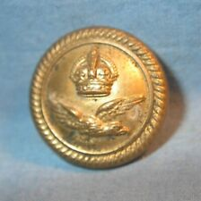 VINTAGE CANADA CROWN & EAGLE BRASS MILITARY UNIFORM BUTTON H ROSENTHAL 15/16""""