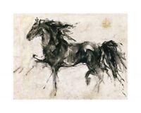 Lepa Zena Marta Gottfried Wiley Horse Abstract Art 31.5x23.5