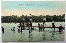1908 POSTCARD BATHERS SWIMMERS AT MIAMI VALLEY CHAUTAUQUA OHIO #1B