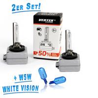 Vertex D1S 5500K Extra Power +50 % 2er Set + Philips W5W WhiteVision 2er Set