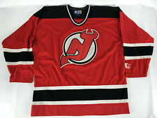 New Jersey Devils Starter Hockey Jersey Red Black No # Blank Vintage NJ Size XL
