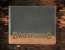 New Browning Nomad Bi-Fold Leather Bifold Mens Wallet