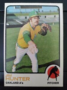 1973 Topps #235 Jim 'Catfish' Hunter Oakland A's HOF