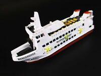 Buque Bote Ms Wangeroge Ferry Fährschiff 12CM Polyresin Ship Modelo