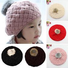 Cute Baby Kids Girls Toddler Winter Warm Knitted Crochet Beanie Hat Beret Cap 1x