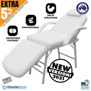Portable Massage Cosmetic Beauty Treatment Facial Waxing Table Chair Bed White