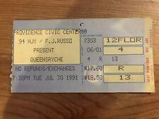 Queensryche Suicidal Tendencies Concert Ticket Stub 7/30/91 Building Empire