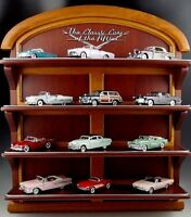 12 FRANKLIN MINT 1:43 SCALE SET CLASSIC CARS WITH DISPLAY SHELF DIE-CAST MIB