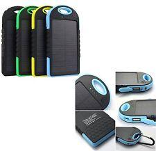 5000mAh Solaire Power Bank double USB Chargeur Portable étanche