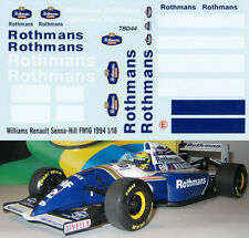 1/18  WILLIAMS RENAULT SENNA HILL FW16 1994 DECALS TB DECAL TBD44