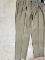 TOMMY BAHAMA MEN'S ST THOMAS DBL PLT SILK KHAKI PANTS SLACKS SIZE 34X32 $145 NWT