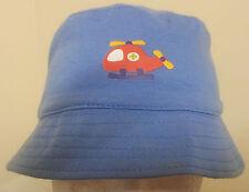 Boys Cotton Bucket hat light blue 48 to 50cm Free Post Aust
