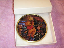 DISNEY WINNIE THE POOH TIGGER PIGLET STAINED GLASS CHRISTMAS ORNAMENT