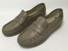 SAS Loafers Slip On 7.5 Classic Mocha Tan Beige Leather Slide Comfort Shoe Women