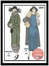 1920s Dress & Coat Sewing Pattern - Flapper - Downton