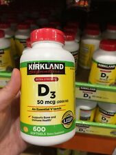 Kirkland Extra Strength Vitamin D3 2000iu (50mcg) 600 Softgels New Free Shipping
