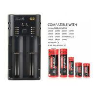 UltraFire AA /AAA/18650/14500 USB Dual Slot Universal Lithium Battery Charger CE