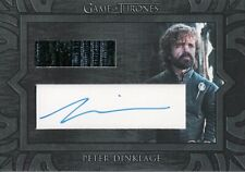 Game of Thrones Inflexions, Peter Dinklage Archive Cut Autograph Relic Card