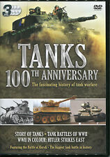TANKS 100th ANNIVERSARY - 3 DVD BOX SET - STORY OF TANKS, BATTLES OF WWII & MORE