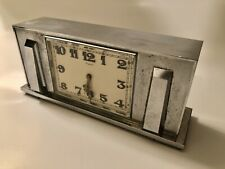 New ListingVintage Grogan Co Concord 400-Day Mantle Clock Chrome Art Deco 1930's Swiss