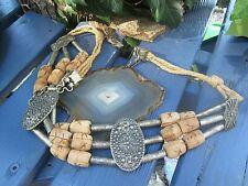 ethno belt gürtel metall holz dekorativ ca 80er und wie neu