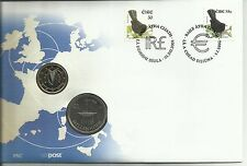 Irish An Post Stamp and Coin Ireland Millennium 1 Punt & 1 Euro PNC Cover Rare