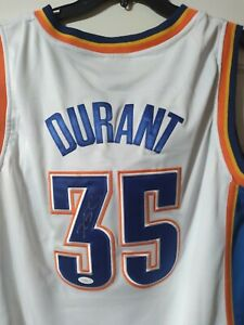 Signed OKC Thunder Authentic Autographed Jersey by Kevin Durant psa Sticker
