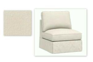 New Pottery Barn SLIPCOVER PB Comfort Armless Chair Sectional Sofa Canvas 3 pc