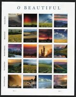 US NATURE LANDSCAPES 2018 SCOTT #5298  O BEAUTIFUL 20 MXF FOREVER STAMP SHEET