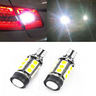 7W 921 T15 HID White Backup Reverse LED Lights and Projector Lens Bulbs White