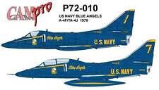 CAM PRO DECAL, 1/72 SCALE, P72-010, A-4/TA-4 SKYHAWK, BLUE ANGELS, 1978